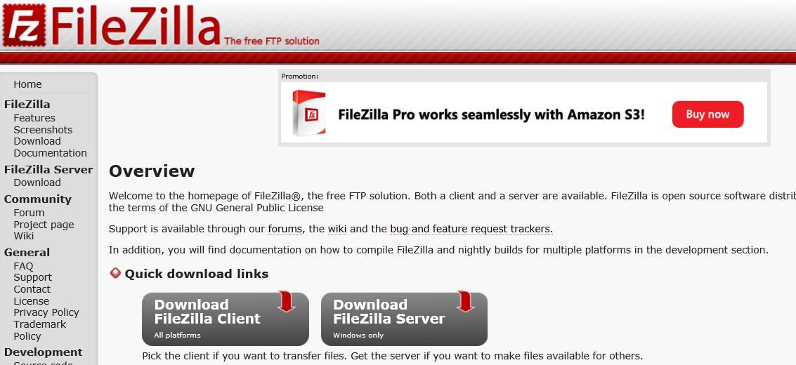 FTPソフト【FileZilla】を使ってサーバーにアップロードする方法